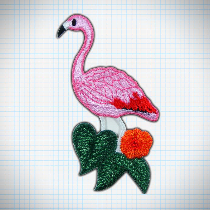 Flower Flamingo Patch - Ice Cream Cake