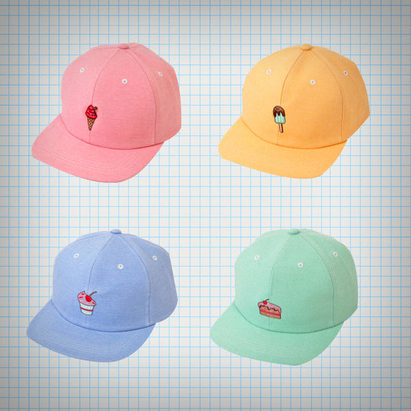 Sweets Embroidery Baseball Cap - Ice Cream Cake
