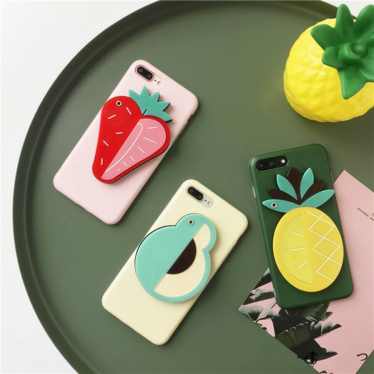 Hidden Mirror Fruity iPhone Case (3 Designs) - Ice Cream Cake