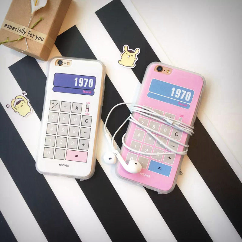 Retro Pastel Calculator iPhone Case (2 Designs) - Ice Cream Cake