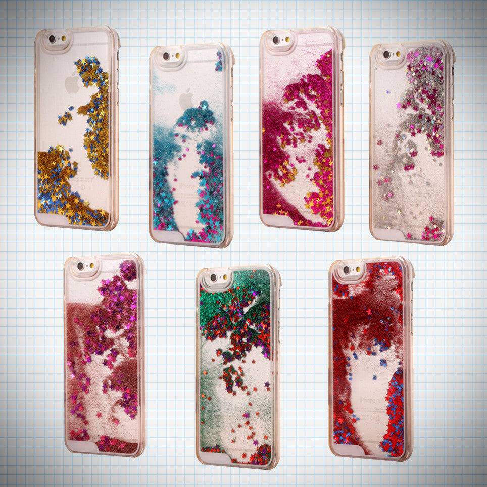 Waterfall glitter star iPhone case - Ice Cream Cake