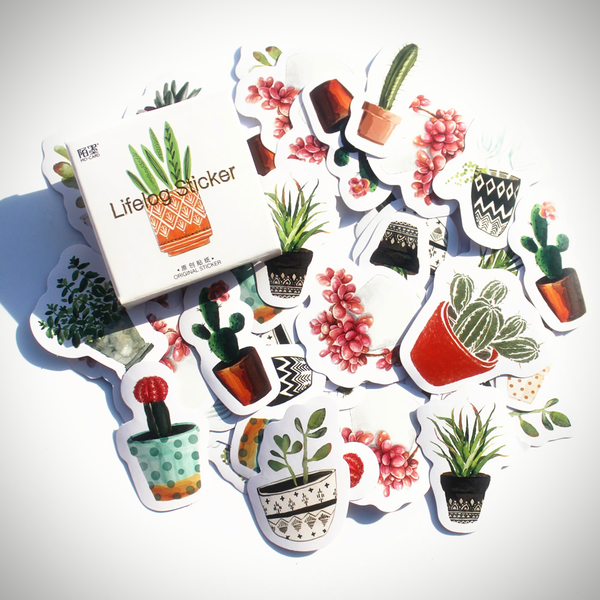 Houseplant Sticker Pack (45pcs) - Ice Cream Cake