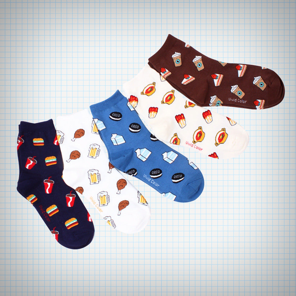 Hit Snack Combo Socks (5 designs) - Ice Cream Cake
