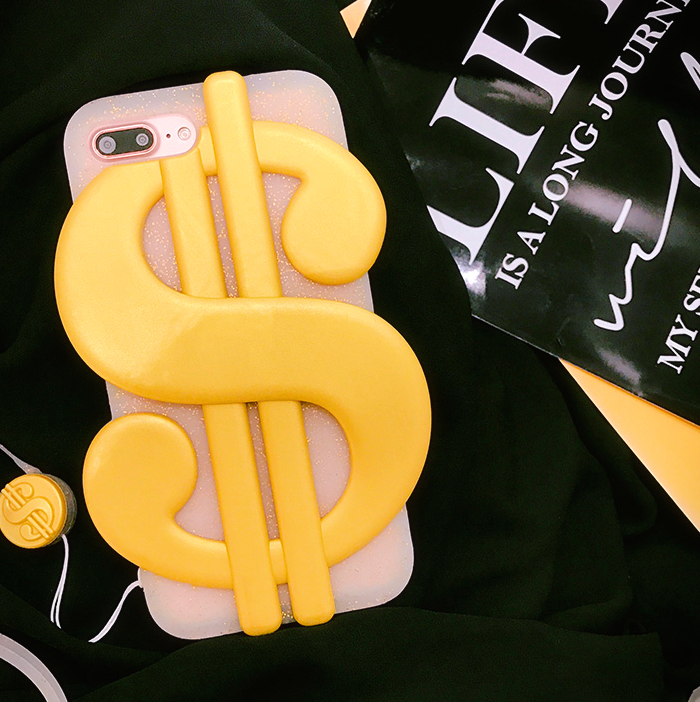 3D Dollar Sign iPhone Case - Ice Cream Cake