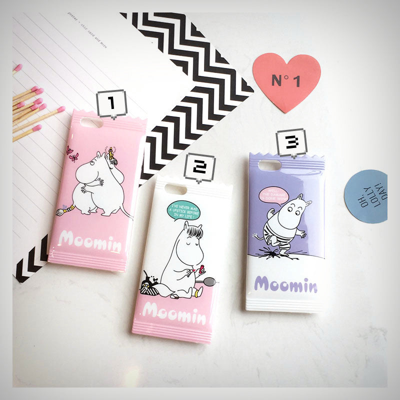 Pastel Moomin Candy Packet iPhone Case (3 Designs) - Ice Cream Cake