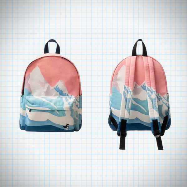 Landscape Backpack: Snowy Mountain - Ice Cream Cake