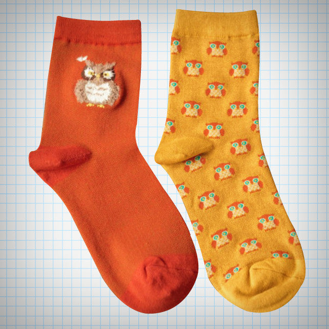Fluffy Owl Ankle Sock Set (2 pairs) - Ice Cream Cake