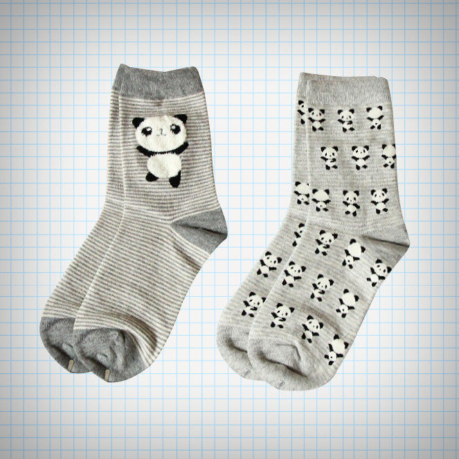 Panda Bear Sock Set (2 pairs) - Ice Cream Cake