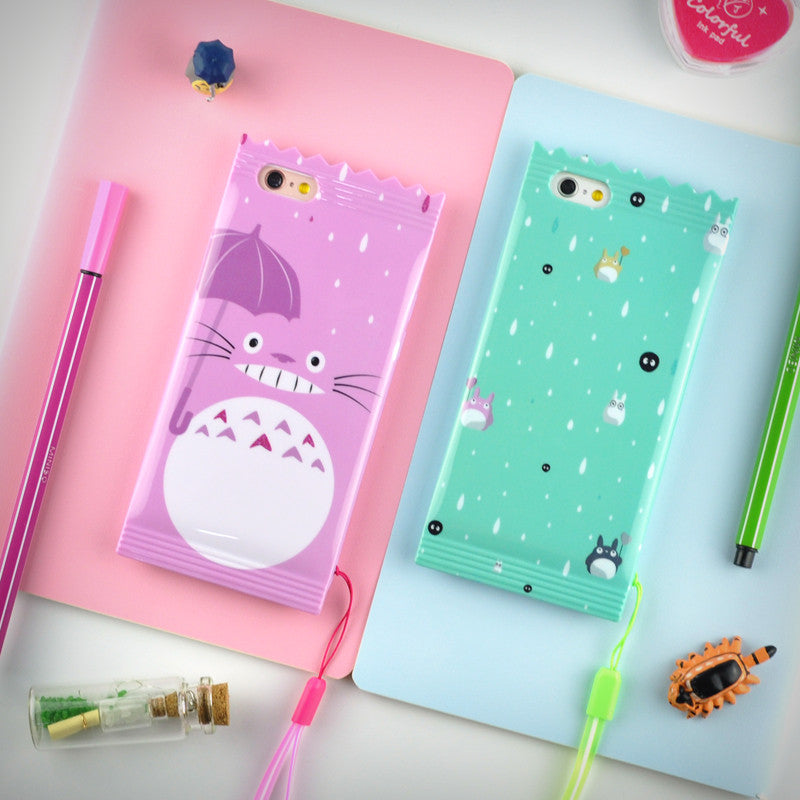 Pastel Totoro Packet iPhone Case - Ice Cream Cake