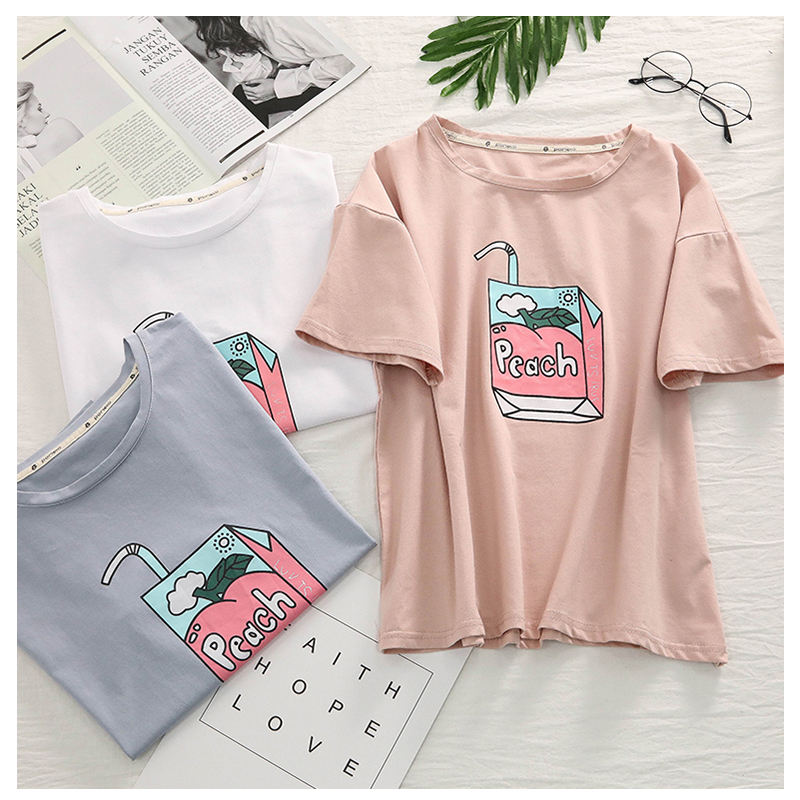 Peach Juice T-shirt (3 Colours) - Ice Cream Cake