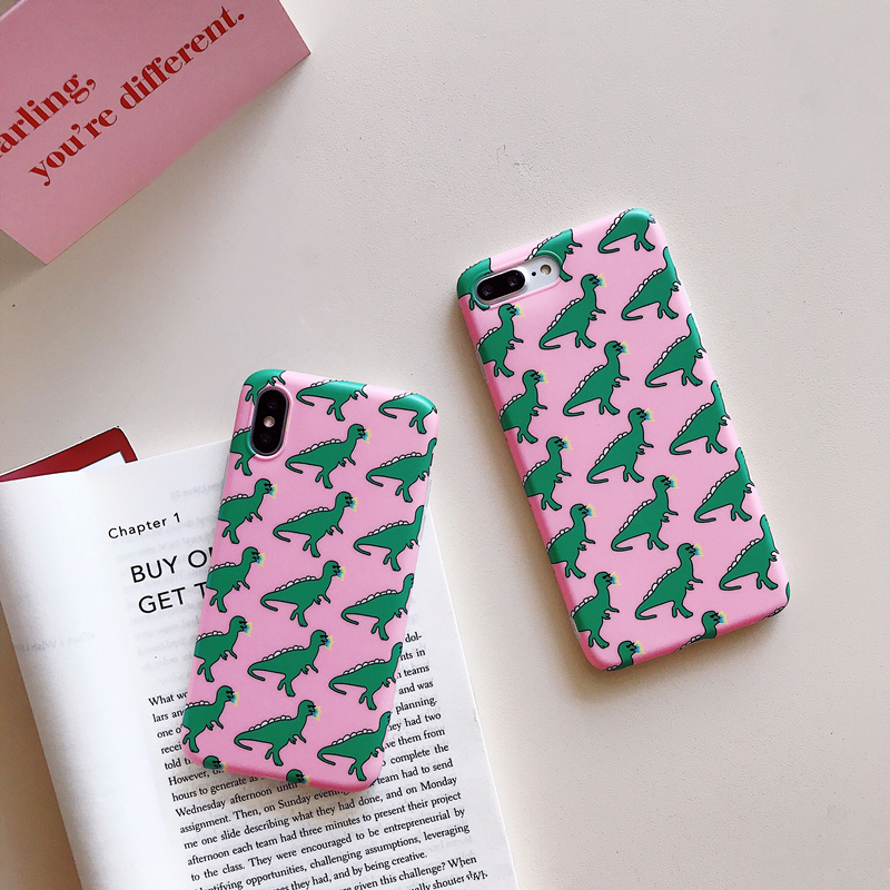 Pink Dinosaur iPhone Case - Ice Cream Cake