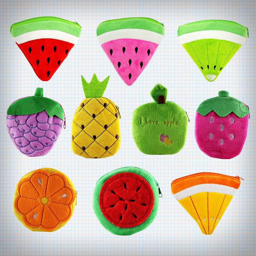 Plush Fruit Coin Purses - Ice Cream Cake