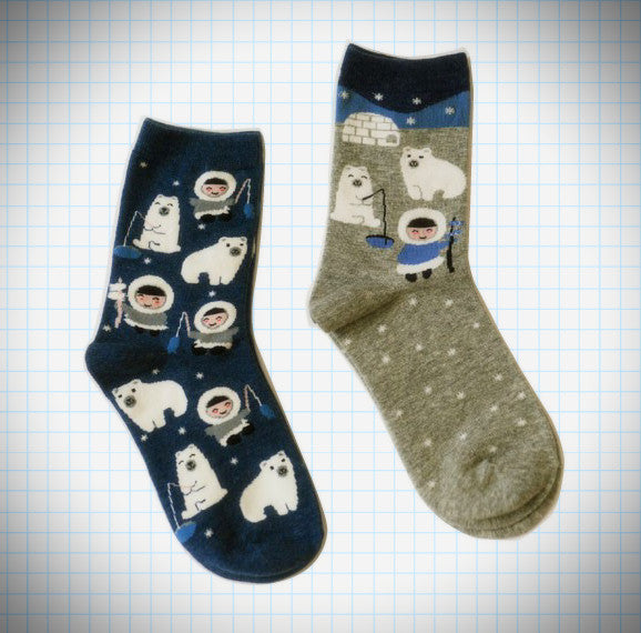 Arctic Party Sock Set (2 pairs) - Ice Cream Cake
