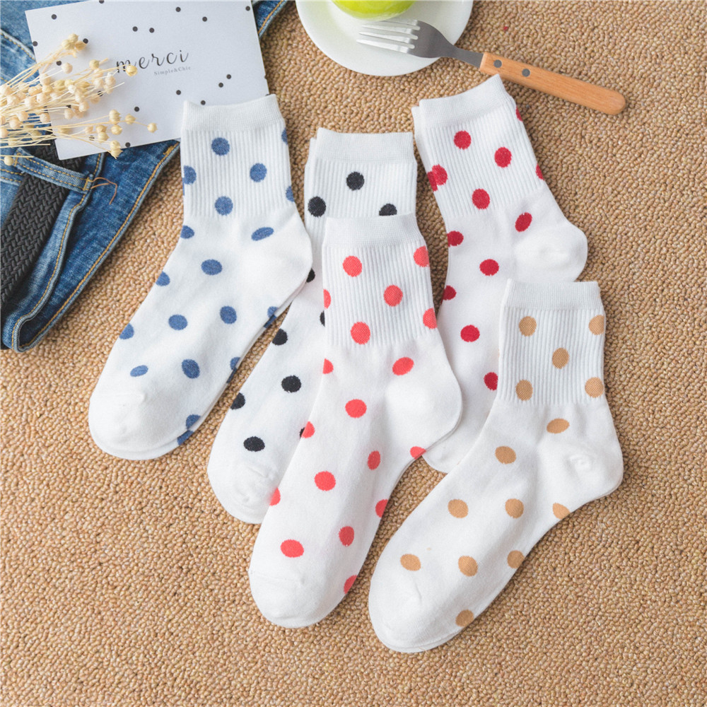 Polka Dot Socks (5 Colours)