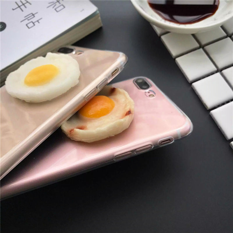 3D Fried Egg iPhone Case (2 Designs) - Ice Cream Cake