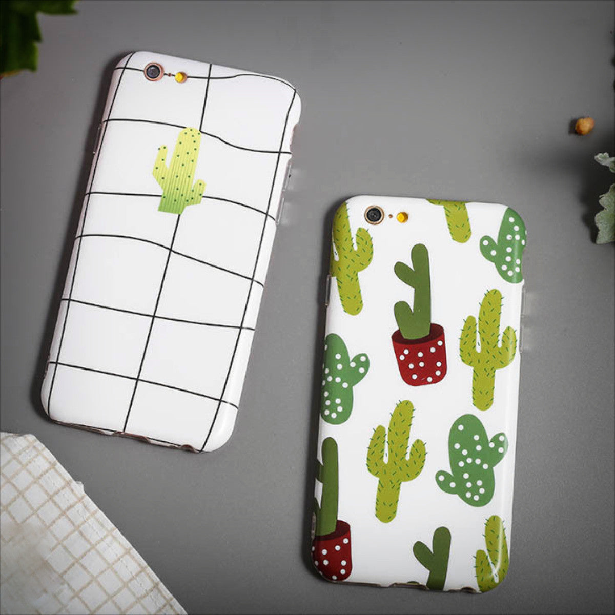 Cactus iPhone Case (2 Designs) - Ice Cream Cake
