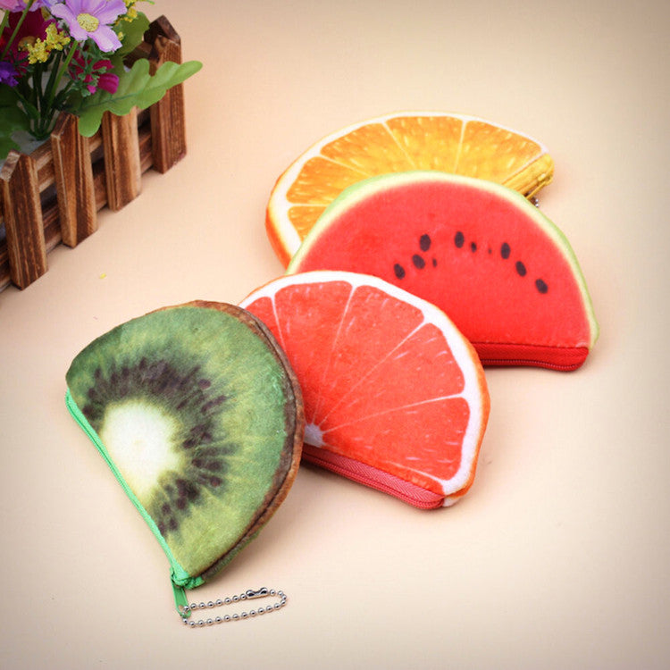 Fruit Slice Photo Print Coin Purses - Ice Cream Cake