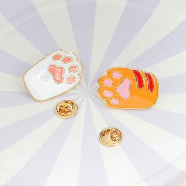 Cat Paw Enamel Pin (2 Designs) - Ice Cream Cake