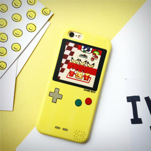 Yellow Pikachu Edition Game Boy iPhone Case - Ice Cream Cake