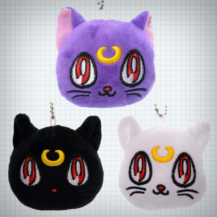 Plush Sailor Moon Cat Charm (3 Designs) - Ice Cream Cake