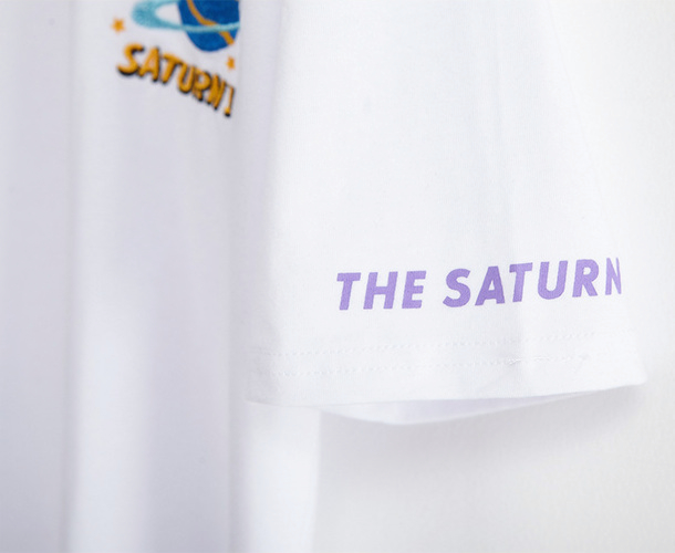 Saturn Embroidery T-Shirt (2 Colours) - Ice Cream Cake