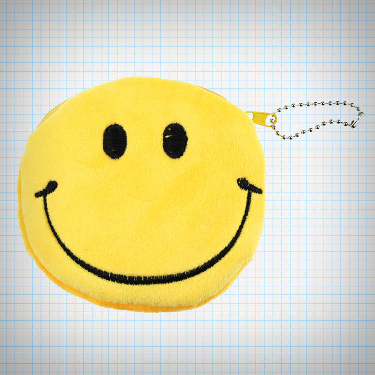 Smiley Face Plush Coin Purse - Ice Cream Cake