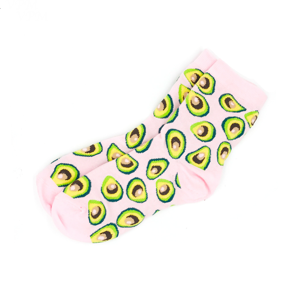 Pink Avocado Socks - Ice Cream Cake