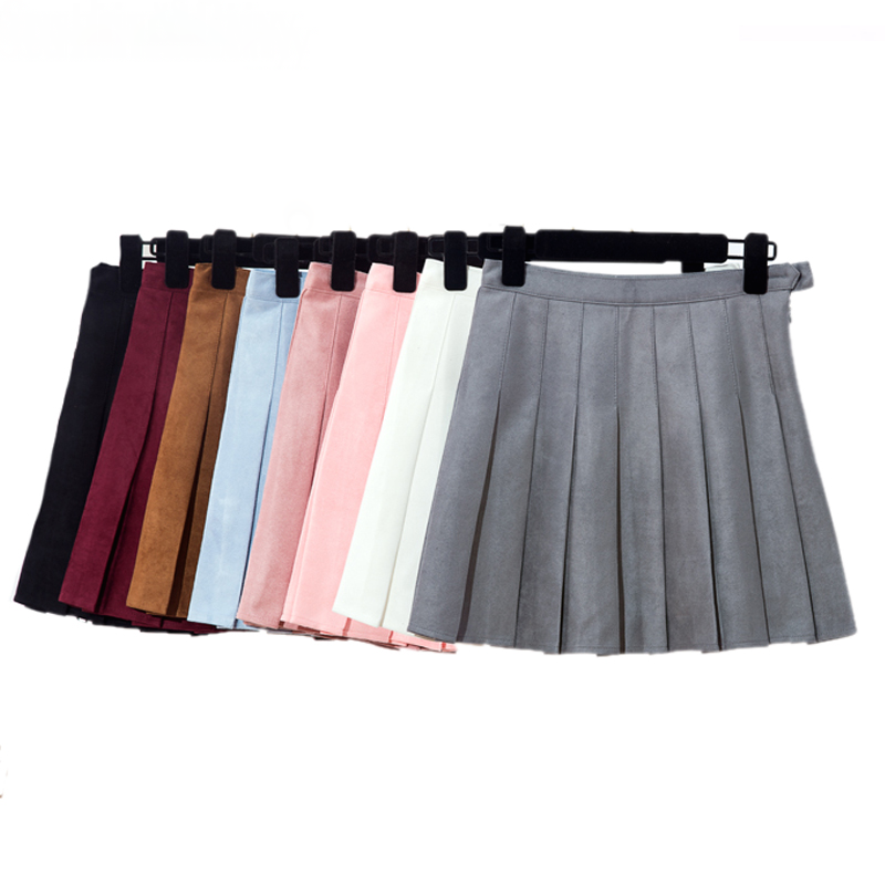 Suede Style Mini Tennis Skirt (8 Colours) - Ice Cream Cake