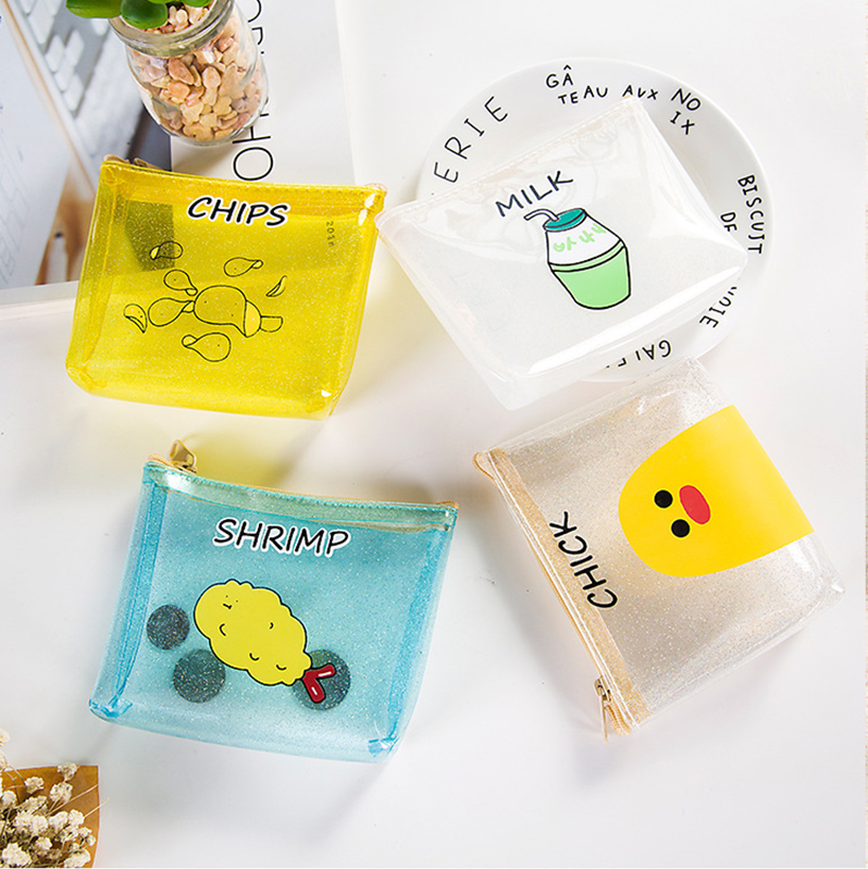 Transparent Illustration Coin Purses (4 designs) - Ice Cream Cake