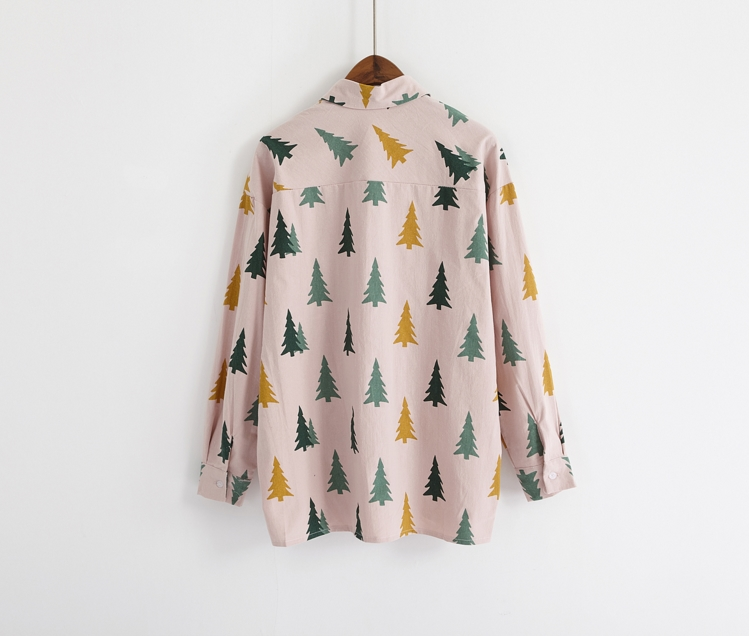 Pine Tree Pattern Blouse (2 Colours) - Ice Cream Cake