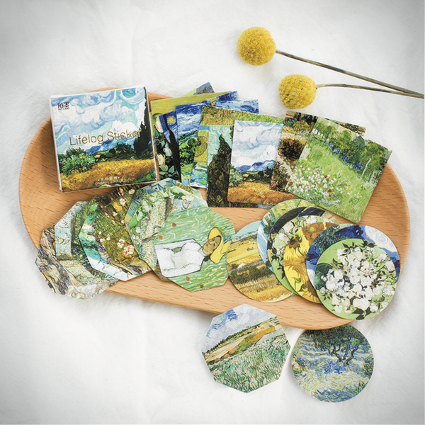 Van Gogh Sticker Set (45 Stickers) - Ice Cream Cake