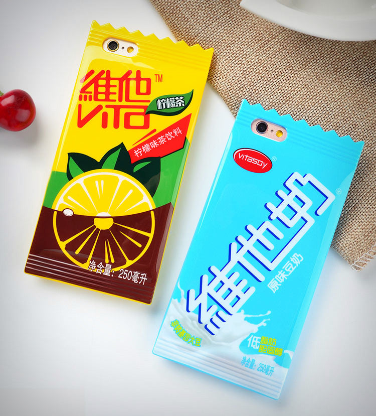 Vitasoy Drink Packet iPhone Case - Ice Cream Cake