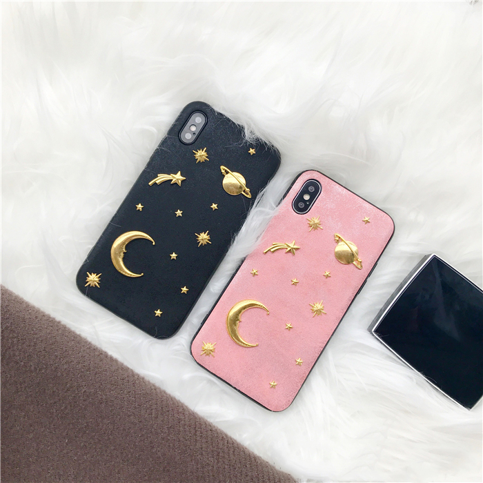 Velvety Space iPhone Case (Colours) - Ice Cream Cake