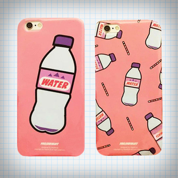 Mineral Water iPhone Case (2 Designs) - Ice Cream Cake