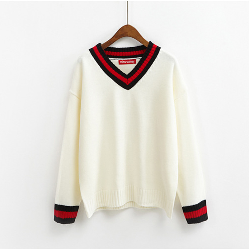 V-Neck Knit Jumper (5 Colours) - Ice Cream Cake