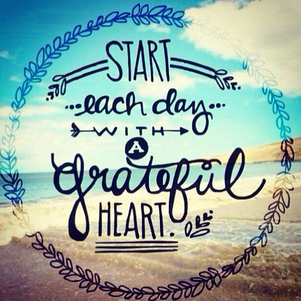START EACH DAY WITH A GRATEFUL HEART 'WILDFIRE AND LACE' BOUTIQUE