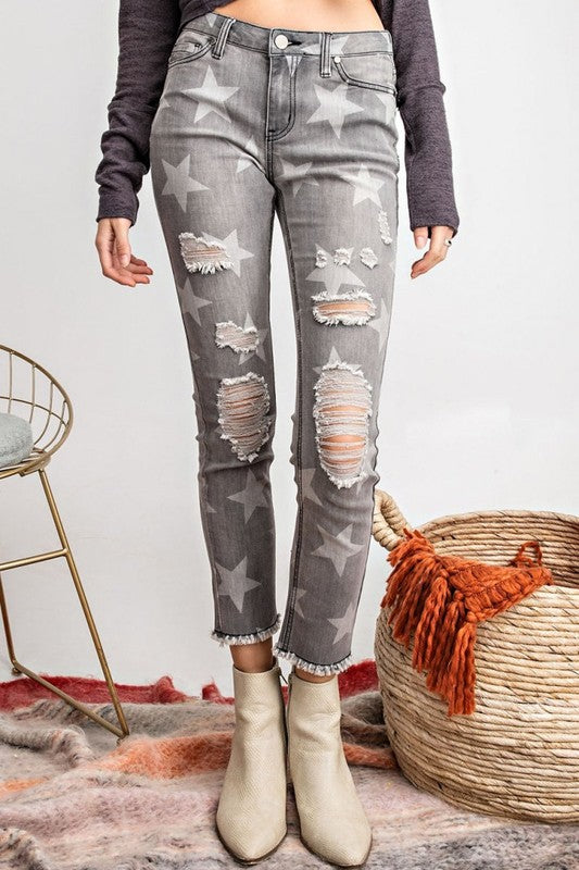 STAR DENIM JEANS - Wildfire and Lace