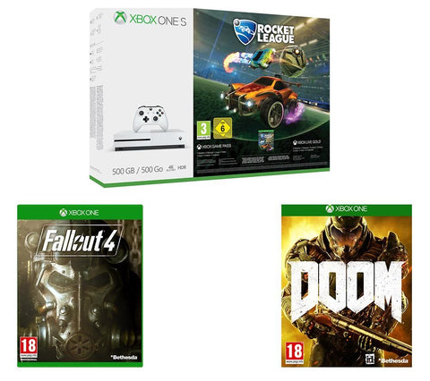 MICROSOFT XBOX ONE S , GAMES & XBOX LIVE GOLD MEMBERSHIP
