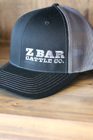 Z Bar Cattle Co Dark Grey/Light Grey Hat