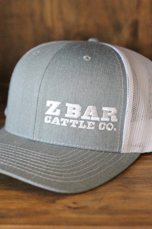 Z Bar Cattle Co Light Grey Hat