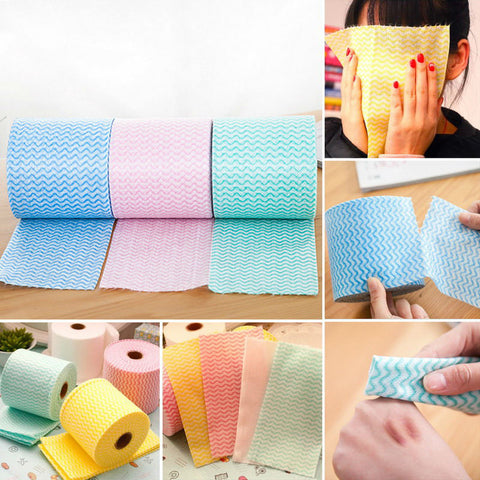 65.6ft Deep Cleaning Disposable Face Towel
