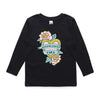 Eskimo Nell Badass Mamas Girl Kids Long Sleeve Tee black