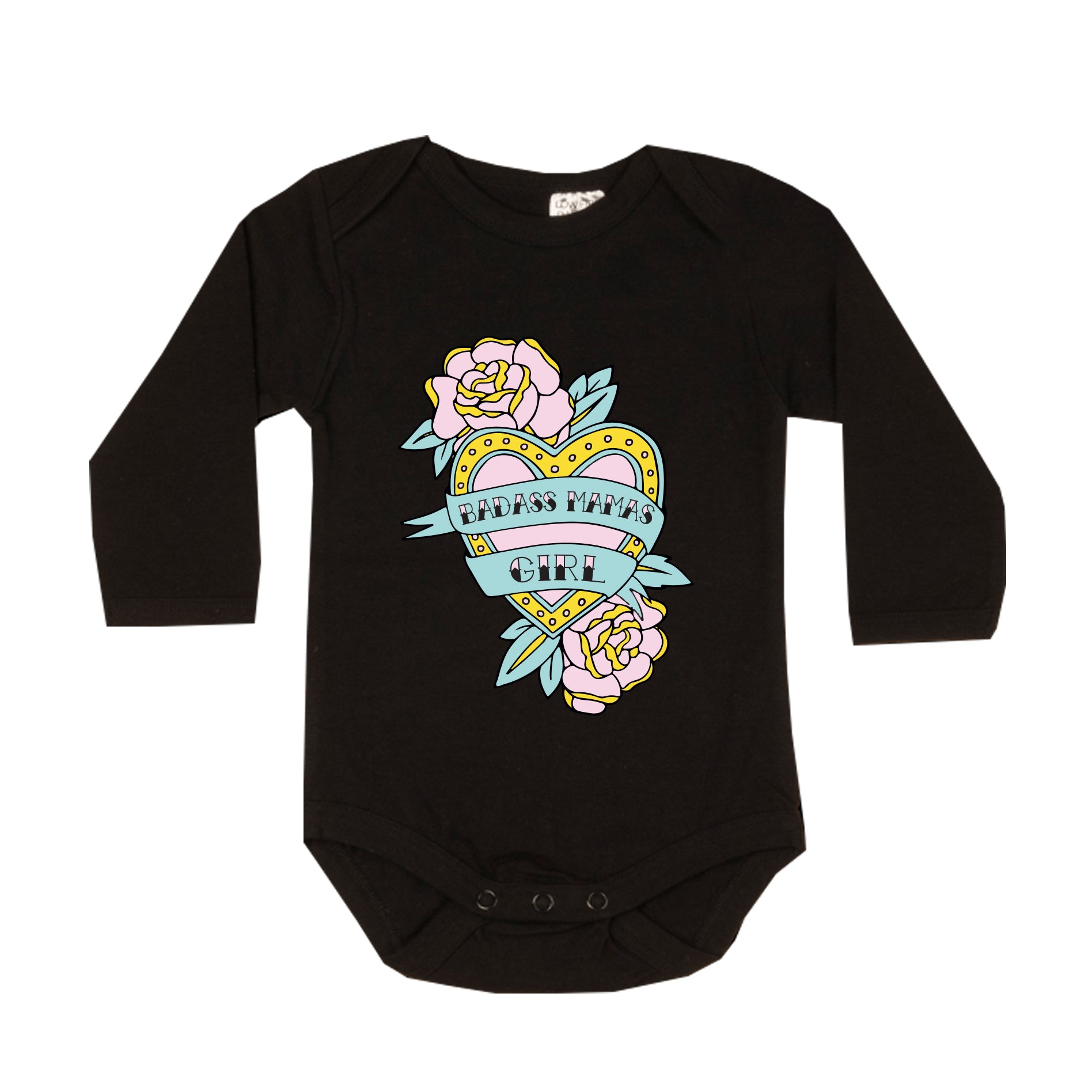 Badass Mamas Girl Long-sleeve Onesie