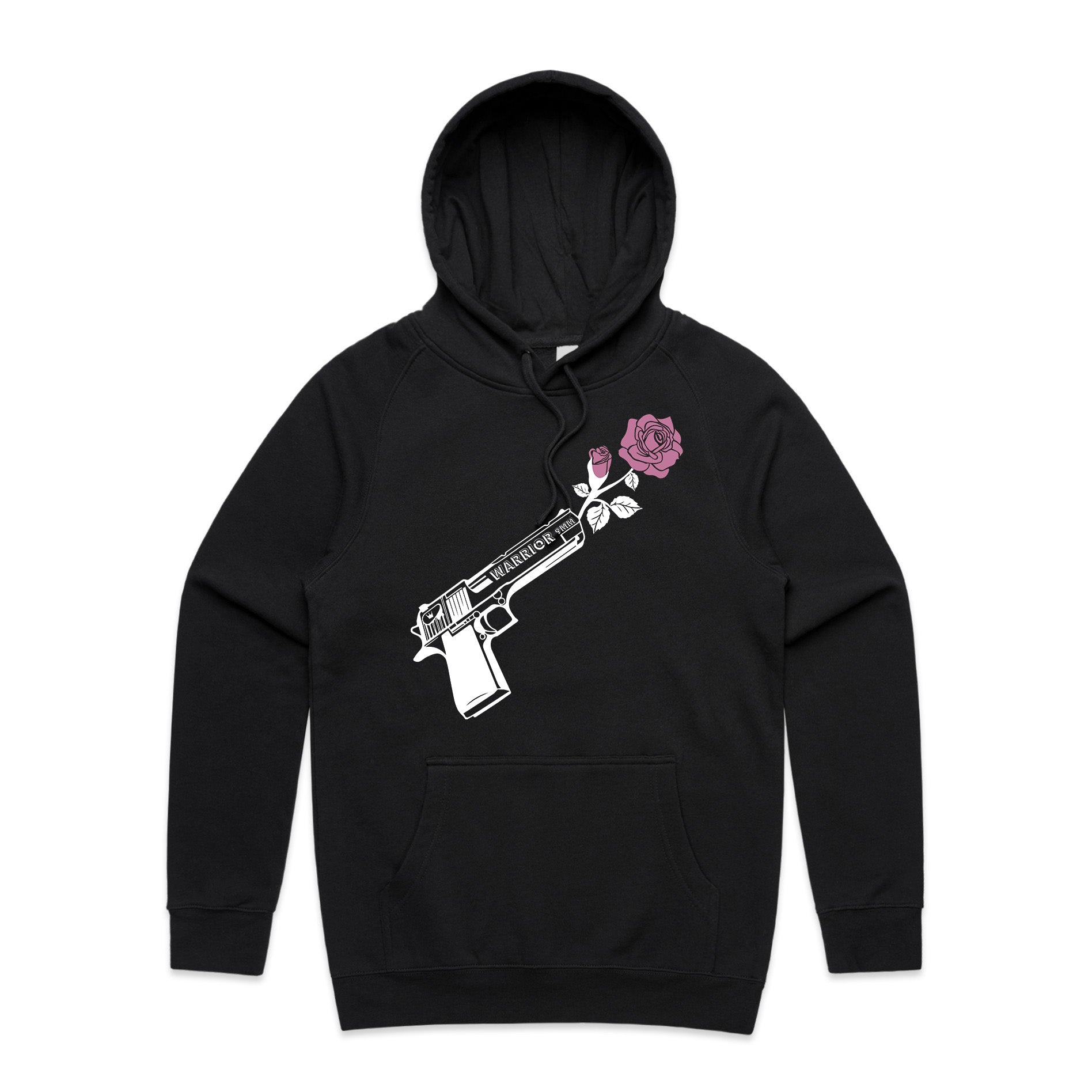 'Through Darkness She Blooms' Hoodie Pink Rose