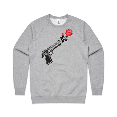'Through Darkness She Blooms' Jumper Red Rose