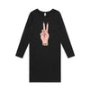 Eskimo Nell Mostly Peace and Love dress black