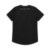 Eskimo Nell | Black curved hem Tshirt Through Darkness She Blooms