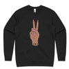 'Mostly Peace and Love with a little bit of Go F Yourself' Brown Skin Babe Jumper