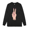 'Mostly Peace and Love with a little Go F Yourself' Unisex Long-sleeve Tee