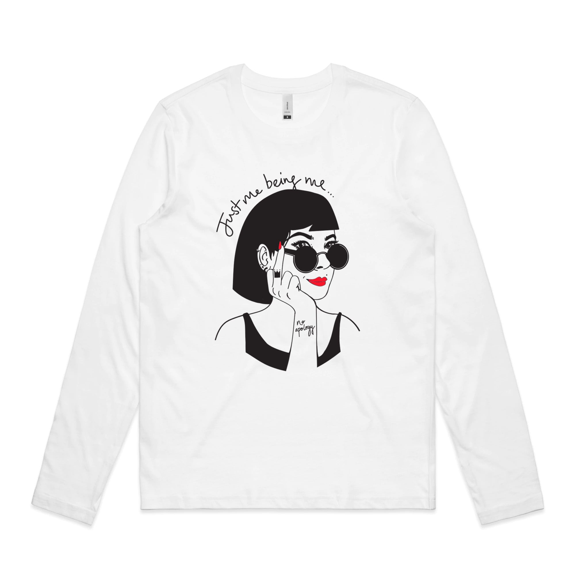 'Just Me Being Me' Women's Long-Sleeve Tee